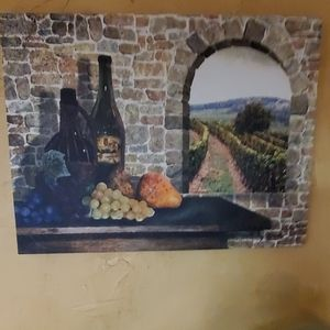 Canvas Vineyard Picture